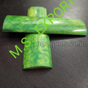 Dyed Stabilized Yellow with Green Bone Radius Scale