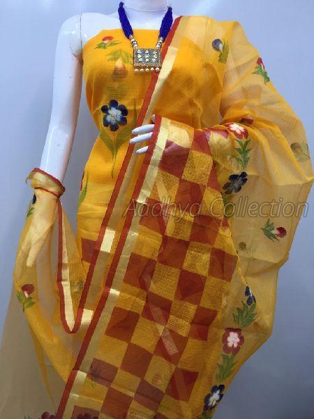 Kota Doria Brush Painted Suits 02