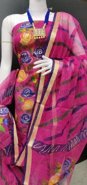 Kota Doria Brush Painted Suits 03