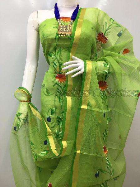 Kota Doria Brush Painted Suits 04