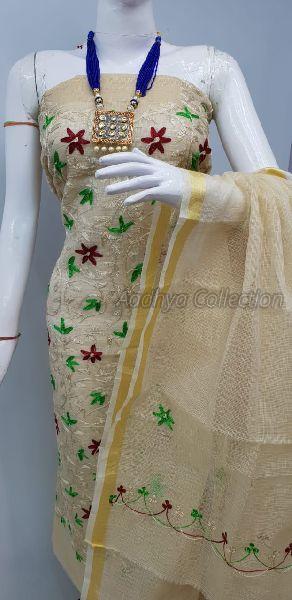 Kota Doria Embroidery Suits 01
