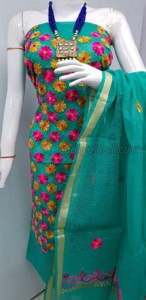 Kota Doria Embroidery Suits 02