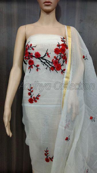 Kota Doria Embroidery Suits 03
