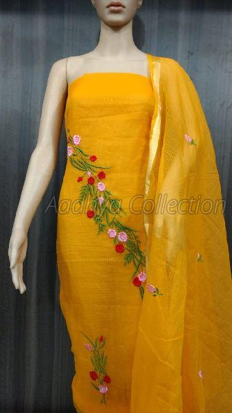 Kota Doria Embroidery Suits 04