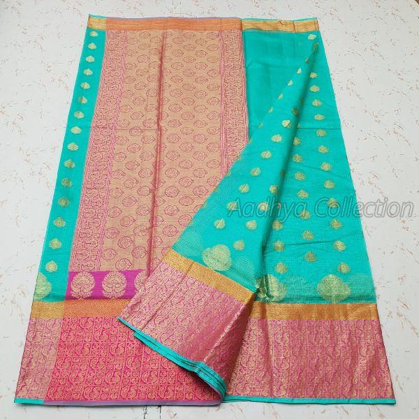 Kota Doria Silk Weaving Saree 01