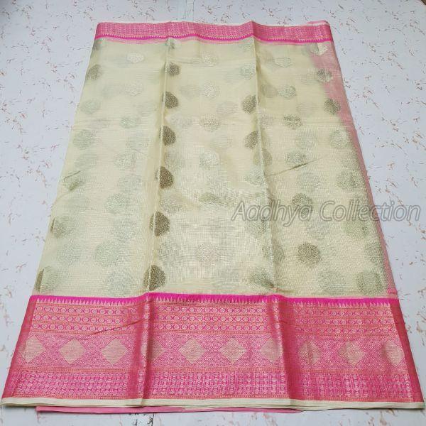 Kota Doria Silk Weaving Saree 02