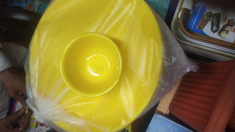 Plastic Plate & Bowl Set
