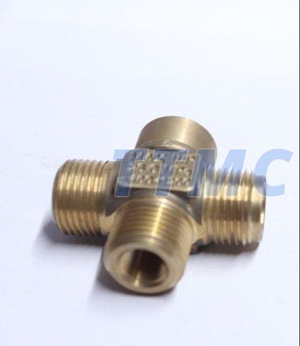 Brass 4 Way Connector 01
