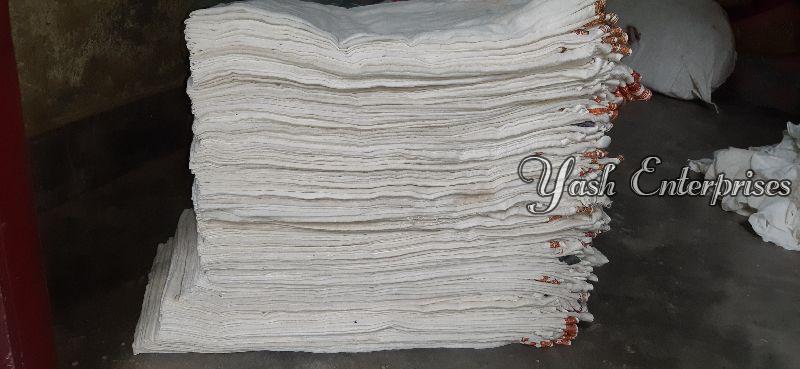 White Old Cotton Dhoti 01