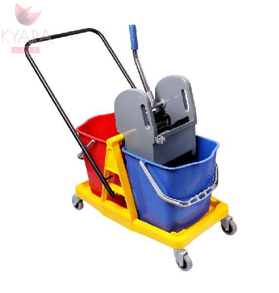 Double Bucket Wringer Trolley 01
