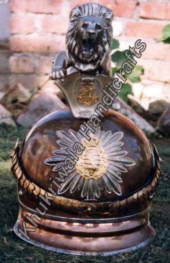 H126 Saxon Lion Head Helmet