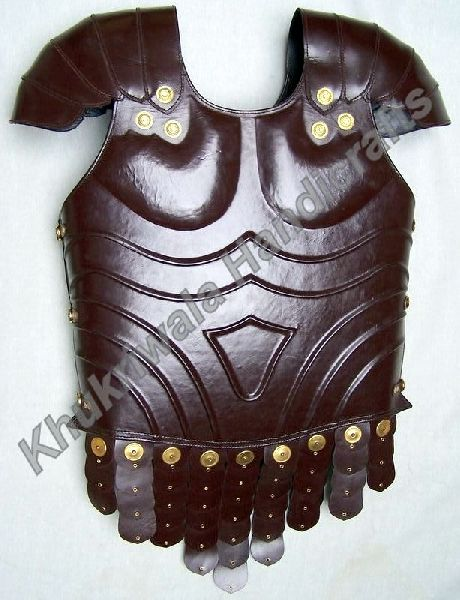J19 Brown Finished Leather Chest Armor