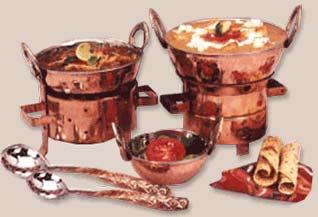 Copper Karahi Set