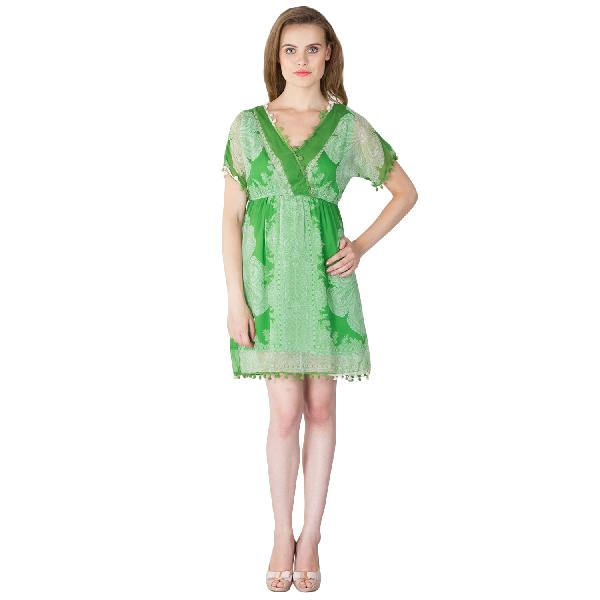 Poly Chiffon Short One Piece Dresses