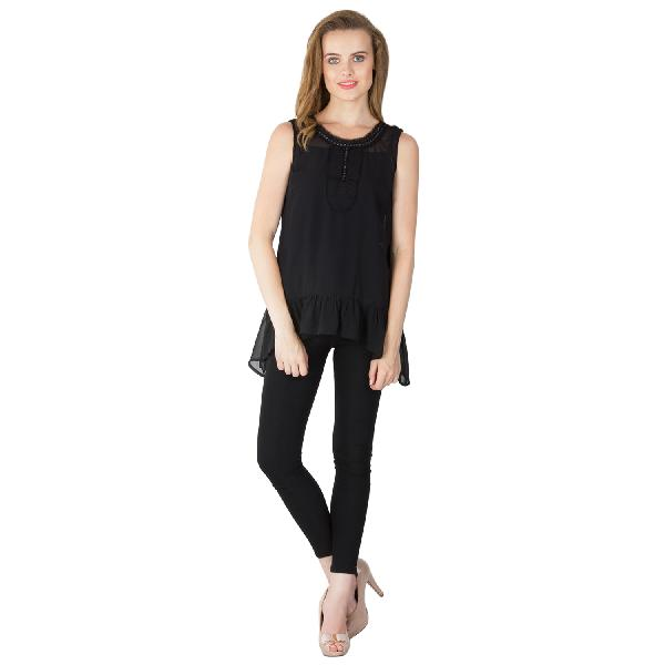 Poly Georgette Frill Tops