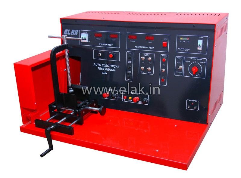Vehicle battery charger automatic tyre pressure indicators for Electric motor test bench