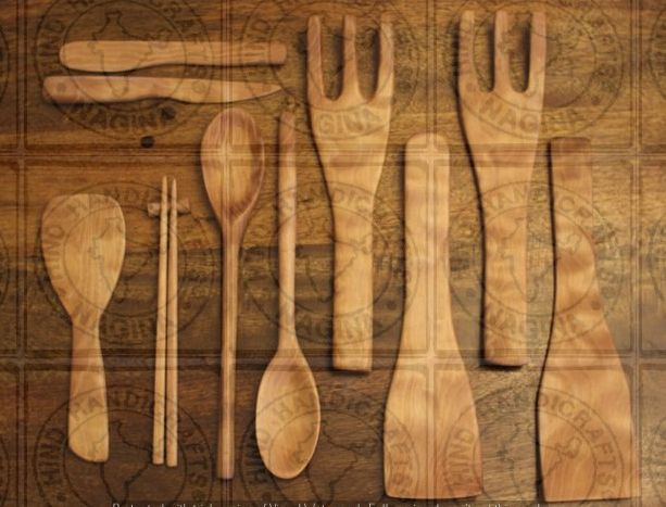 HHC169 Wooden Cutlery Set