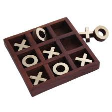 HHC198 Wooden Tic Tac Toe Game