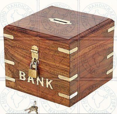 HHC229 Wooden Money Bank