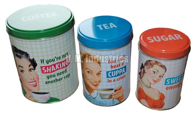Tea and Coffee Tin Container