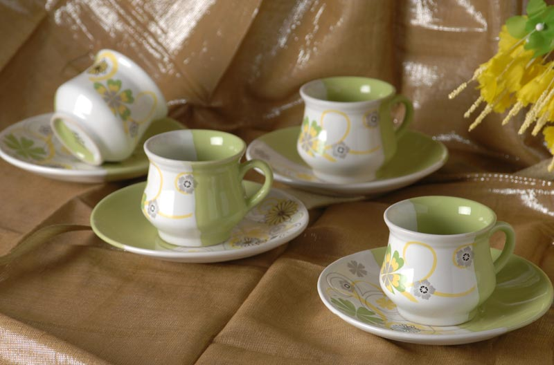 Stoneware Z Series Cups and Saucers