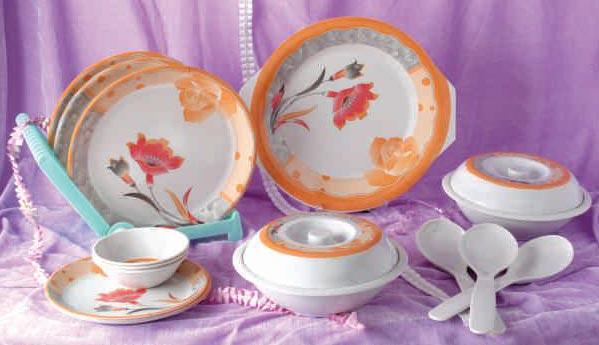 Melamine Dinner Set 34 Pcs
