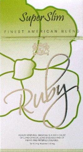 Ruby Menthol Super Slims Cigarette