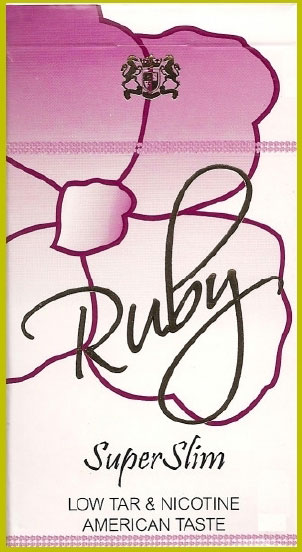 Ruby Purple Super Slims Cigarette