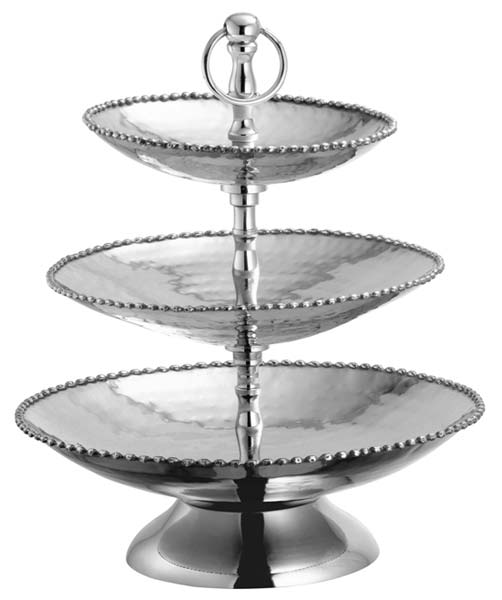 Stainless Steel Three Tier Charlie