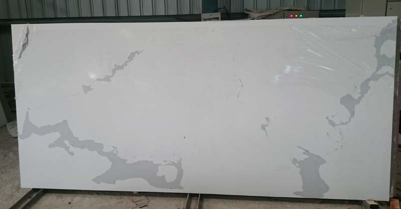 Statuario Marble Finish Quartz Slabs