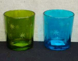 Painted Glass Votive