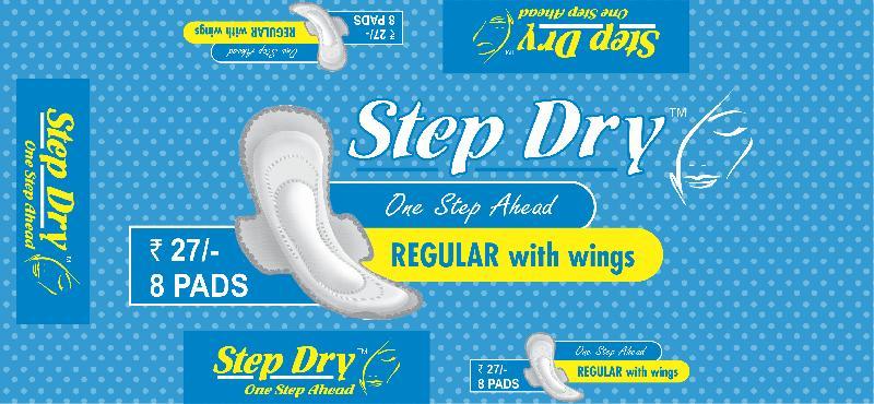 Step Dry Regular with Wings Sanitary Pad 02