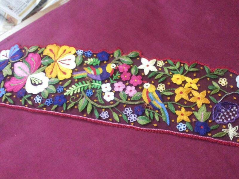 Embroidery Saree Borderhand Embroidered Saree Border Supplier