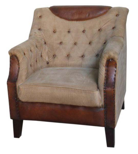 leather sofa chair. Leather Canwas Sofa With Buttons 04 Chair T