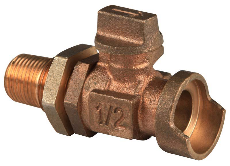 Bronze ball valves two piece valve drain