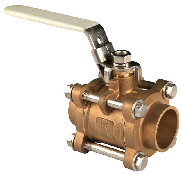 Three Piece Brass Ball Valve