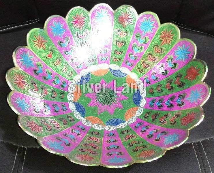 Brass Decorative Flower Shaped Basket