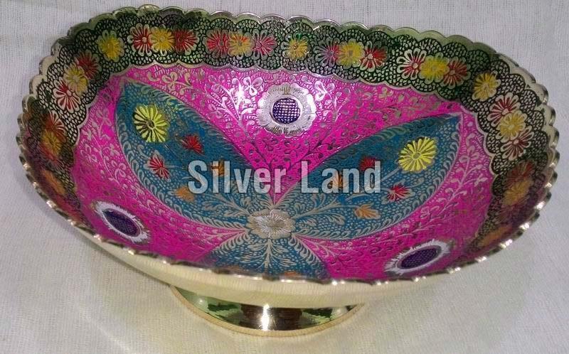 Brass Decorative Rectangular Shaped Basket
