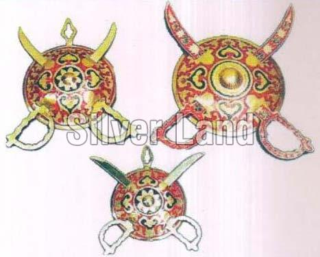 Brass Dhal & Talwar Set
