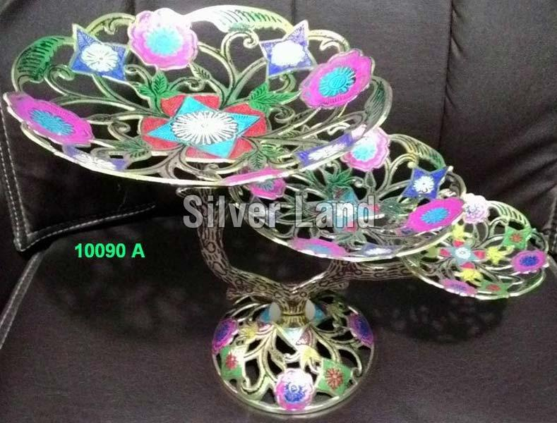 Brass Fruit Basket Stand