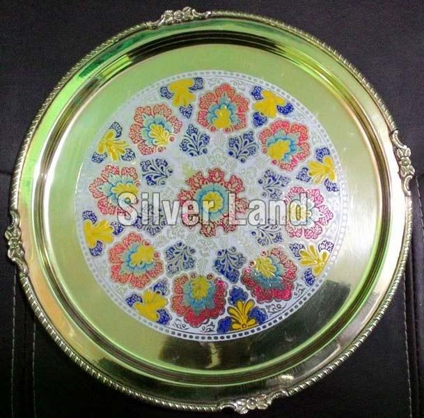 Brass Decorative Round Thali
