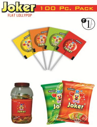 Joker Flat Type Lollipop