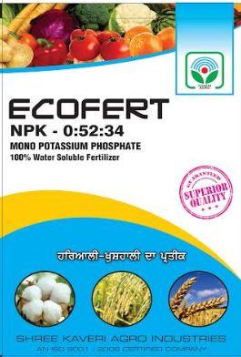 Ecofert NPK Water Soluble Fertilizer (Mono Potassium Phosphate)