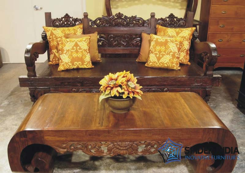 Antique Wooden Carved Sofa - Antique Wooden Carved Sofa,Carved Indian Bench Manufacturers
