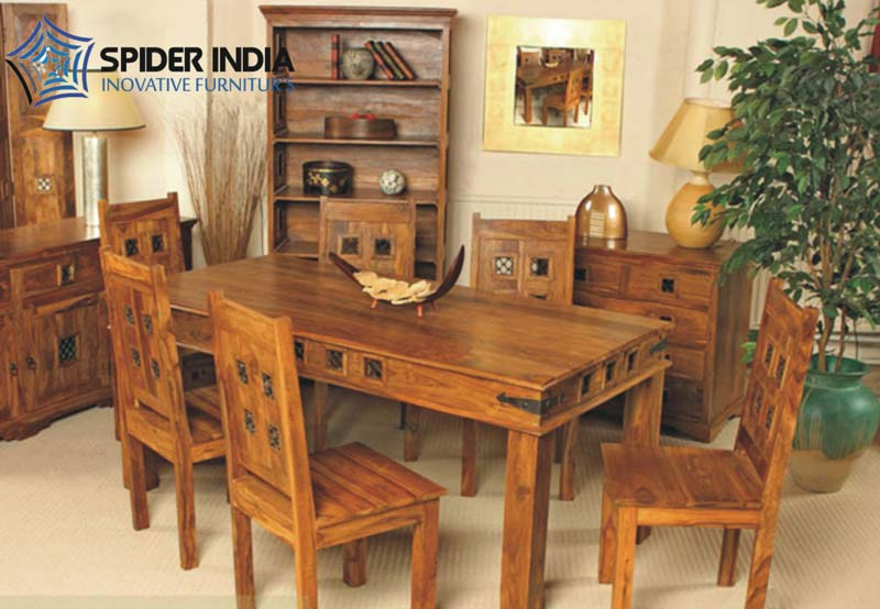 Wooden Dining Table Set Sheesham Wood Dining Table Set
