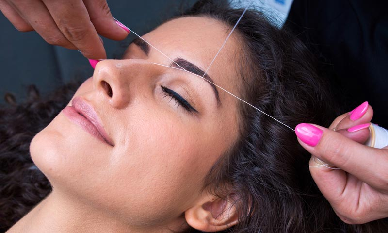 Ladies Eyebrow Threading Services