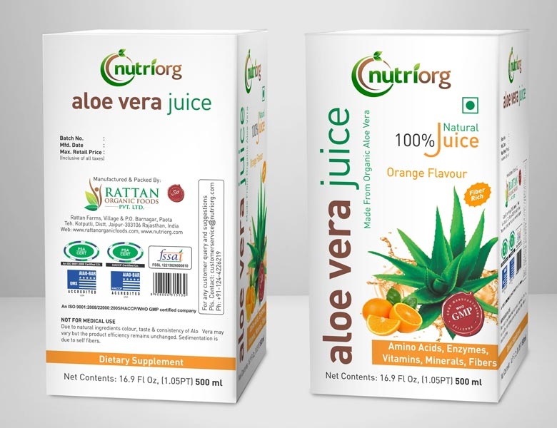 Orange Flavour Aloe Vera Juice 02