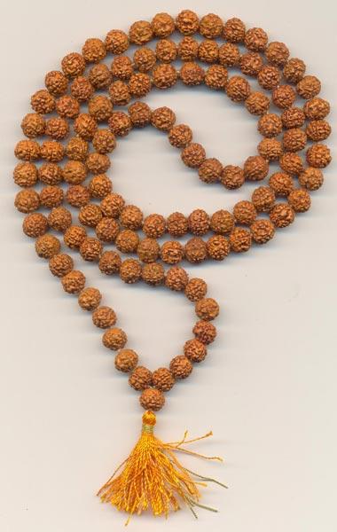 108 Beads Rudraksha Kantha Mala