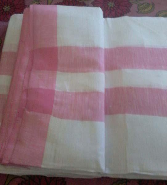 Double Border Linen Dhoti