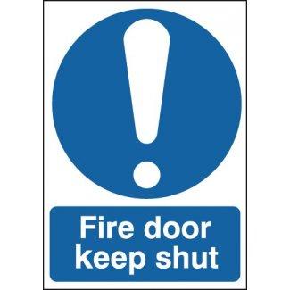 Fire Door Keep Shut With Symbol Signage